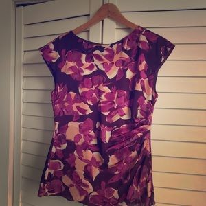Banana Republic Floral Ruched Top